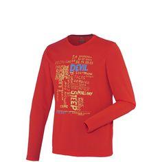 MILLET - T-shirt de ski freeride homme rouge Ski Freeride, Devil, Skiing, T Shirt, Long Sleeve, Sleeves, Sports, Mens Tops, Fashion