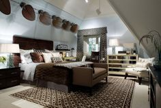 Dreamy Bedroom Getaway - 10 Bedroom Retreats From Candice Olson on HGTV.does the fan effect on ceiling work? great idea for a warm evening. love this room 5 Bedroom House, Bedroom Retreat, Cozy Bedroom, Bedroom Decor, Bedroom Ideas, Bedroom Colors, Bedroom Interiors, Bedroom Pictures, Bedroom Inspiration