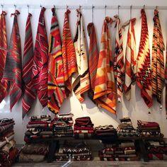 Serape blankets in a Santa Fe shop Road Trip Theme, Perfect Road Trip, Santa Fe Style, Navajo Rugs, Hacienda Style, Desert Homes, What To Pack, Native American Indians, Wedding Designs