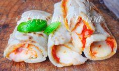Cannoli di piadina con mozzarella e pomodoro vickyart arte in cucina