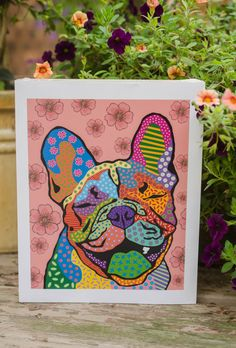 "Happy Frog! French Bulldog print ""8 x 10"""