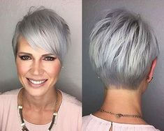 Today we have the most stylish 86 Cute Short Pixie Haircuts. We claim that you have never seen such elegant and eye-catching short hairstyles before. Pixie haircut, of course, offers a lot of options for the hair of the ladies'… Continue Reading → Haircut For Older Women, Short Hair Cuts For Women, Short Hairstyles For Women, Trendy Hairstyles, Short Hair Styles, Hairstyles 2018, Short Haircuts, Grey Hair Styles, Daily Hairstyles