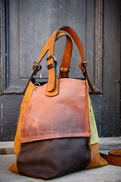 Oversized Bag ladybuq handmade leather tote bag di ladybuq su Etsy, $230.00