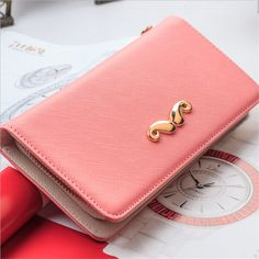 Exquisite Buckle Coin Purses White Plaid Pattern Mini Wallet Key Card Holder Purse for Women