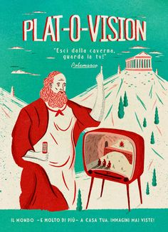 adam hancher-plat-o-vision - I guess this has something to do with the Allegory of the Cave.