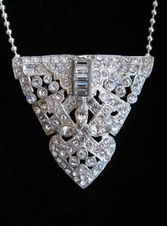 Vintage Art Deco Necklace Dress Clip Pendant c1930  Join MJH JEWELRY DESIGNS facebook page for special discounts & promotions!
