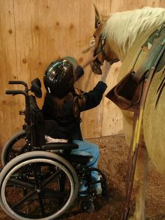 Therapeutic riding- going to start volunteering at a therapy ranch....This just melts my heart!