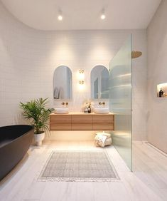 Dream Bathrooms, Beautiful Bathrooms, Upstairs Bedroom, Home Office Space, Laundry In Bathroom, Floor Decor, Bathroom Inspiration, Bathroom Ideas, Bathroom Interior Design