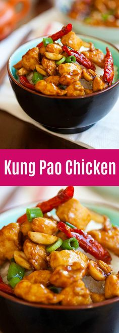 Kung Pao Chicken is a Chinese takeout classic loaded with spicy chicken, peanuts, vegetables in a mouthwatering Kung Pao sauce. This easy homemade recipe is healthy, low in calories and much better… Chinese Chicken Recipes, Best Chicken Recipes, Asian Chicken, Best Kung Pao Chicken Recipe, Chicken Stirfry Recipes, Chinese Chicken Stir Fry, Peanut Chicken Stir Fry, Chicken Stir Fry Sauce, Chicken Stir Fry With Noodles