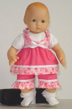 Pink & White Outfit for Bitty Baby Doll