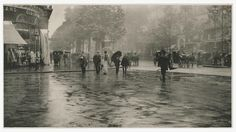 Art Object Page. Alfred Stieglitz American, 1864 - 1946 A Wet Day on the Boulevard, Paris 1894 carbon print image: x cm x 11 in.) Alfred Stieglitz Collection Stieglitz Estate Number Key Set Number 114 Not on View Alfred Stieglitz, Edward Steichen, Flatiron Building, Michigan, History Of Photography, Heart Photography, National Gallery Of Art, First Photograph, Marlene Dietrich