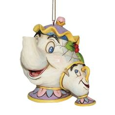 Disney Traditions Beauty And The Beast Mrs Potts and Chip Hanging Ornament