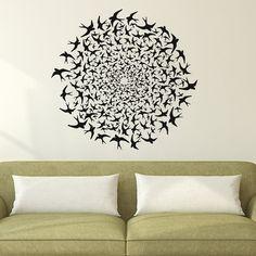 Wall Decal Bird  Decal Vinyl Sticker Wall Decor Nursery Bedroom Room Home Interior Design Art  MN318