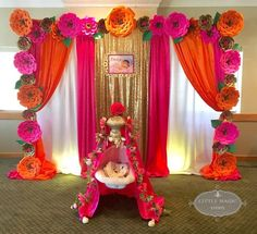 24 Ideas For Wedding Table Dcoration Pink Bridal Shower Diwali Decorations, Bridal Shower Decorations, Ceremony Decorations, Flower Decorations, Festival Decorations, Bachelorette Decorations, Cradle Decoration, Naming Ceremony Decoration, Indian Baby Showers