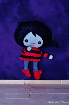 Marceline teddy 11cm tall aprox with jointed by TinkerbellsKawaii