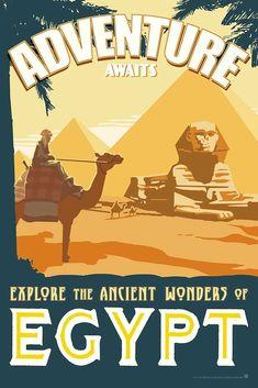 Ancient Wonders of Egypt - Exotic Travel Art Print – Oktopolis Baekhyun Gif, Baekhyun Photoshoot, Egypt Tattoo Design, Egypt Design, Egypt Wallpaper, Old Egypt, Egypt Art, Ancient Egypt, Ancient History