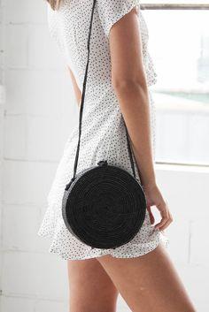 Madeline Round Bag - Black – Style Addict