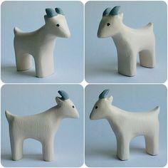 b for Bjørn: White Goats