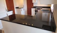 Selective in choosing materials that is used for the interior of the kitchen, especially for kitchen worktops is important. Worktops that are used on Granite Worktops, Kitchen Worktops, Kitchen Cabinets, Kitchen Tops, Granite Kitchen, Simple House Plans, Black Granite, Work Tops, Kitchen Furniture