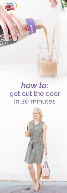 Rise and shine it's work time. If you're usually in a rush to tackle your daily routine in time, check out this guide for How to Get out the Door in 20 minutes! From outfit tips to quick and easy breakfast hacks—like grabbing the new Coffee-mate® Natural Bliss® Sweet Cream Cold Brew from your local grocery store—you can find all the inspiration you need. You'll become a master of your morning schedule in no time!