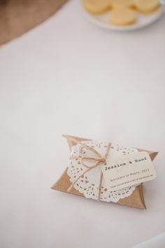 doily favor packaging // photo by Jonathan David Photography