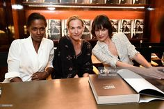 Actress/models Karena Alexander, Tatjana Patitz, Milla Jovovich, attend photographer Peter Lindbergh Book Signing for 'A Different Vision On Fashion Photography' TASCHEN Gallery on September 20, 2016 in Los Angeles, California.