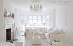 Home Decorating Websites Free All White Room, White Rooms, Living Room Designs, Living Room Decor, White Lounge, Elegant Living Room, Home And Deco, White Houses, White Furniture