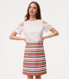 Costa Jacquard Shift Skirt