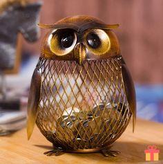 Tooarts Owl Piggy Bank