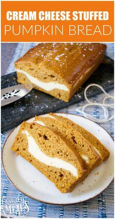 Cream Cheese Stuffed Pumpkin Bread - Recipe - Family Fresh Meals