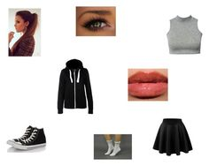 """Untitled #194"" by girlygirldreamsx ❤ liked on Polyvore featuring LE3NO and Converse"
