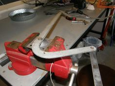 The next step was to remove the support arm from the worn out axle.