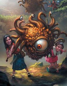 (1) Tumblr Dark Fantasy Art, Fantasy Artwork, Monster Art, Fantasy Monster, Fantasy Character Design, Character Art, Fantasy Beasts, Dnd Monsters, Graffiti