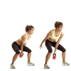 Kettle ball workout. 8 different moves, repeat the circuit three times. I did jumping jacks in between to get my heart rate up more.