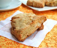 White Chocolate Macadamia Nut Scones - gluten free - use honey though ...