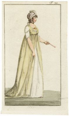 Journal des Luxus und der Moden 1799 n°32 Hand-colored engraving