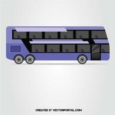 Double-decker bus vector clip art.