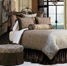 Eastern Accents Foscari Bedding Collection - All Bedding Sets - Bedding Sets - Bed & Bath Damask Bedding, Blue Bedding, Custom Bedding, Brown Bedding, Comforter Sets, Luxury Bedding Collections, Luxury Bedding Sets, Home Bedroom, Decor Room