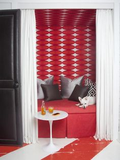 Love this wallpaper | Contemporary Bedrooms from Brian Patrick Flynn : Designers' Portfolio 7022 : Home & Garden Television