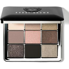 Bobbi Brown Sterling Nights Eye Palette found on Polyvore featuring beauty products, makeup, eye makeup, eyeshadow, matte palette eyeshadow, eyeshadow brush, matte eyeshadow, sparkle eyeshadow and eye brow makeup
