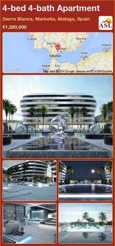 4-bed 4-bath Apartment in Sierra Blanca, Marbella, Malaga, Spain ►€1,280,000 #PropertyForSaleInSpain