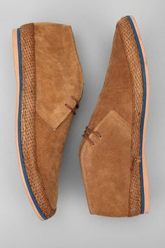 $60 - Hawkings McGill - Low Profile Suede Chukka Boot w/Twill Lining+Color Blocking Rubber Sole