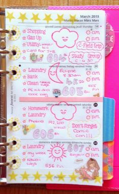 She's Eclectic: My week in my Filofax #12 - close up