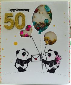 Anniversary card made for my parents. Wishing them happy 50th wedding anniversary and many more great years to come.