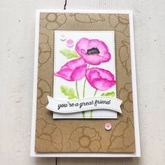 'Delicate Pretty Poppies' Stamp Set by MFT Stamps & combined it with the banner from Blueprint 25 Die-namics and the Inside & out Stitched Rectangle Die