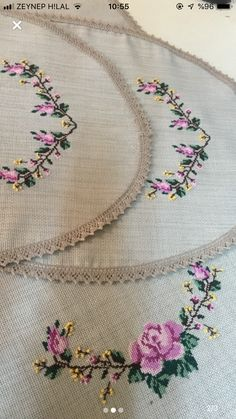 Crochet Bedspread, Embroidery Fashion, Bargello, Cross Stitch Flowers, Small Flowers, Kimono Fashion, Cross Stitch Embroidery, Pillows, Sewing