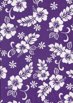 Hawaiian purple fabric pattern
