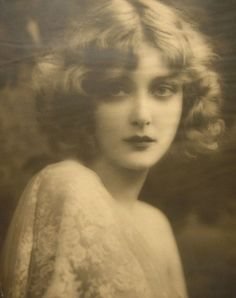 Mary Nolan 1920's, vintage sepia photograph, photo, finger wave hairstyle