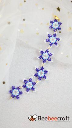 Diy Crafts Jewelry, Handmade Beaded Jewelry, Bracelet Crafts, Bead Crafts, Handmade Bracelets, Beaded Flowers Patterns, Beaded Jewelry Patterns, Diy Leather Bracelet, Bead Jewellery