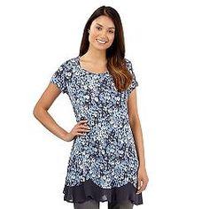 6133a671680de Designer grey floral hanky hem top Debenhams Uk, Exclusive Clothing,  Sequins, Chiffon,